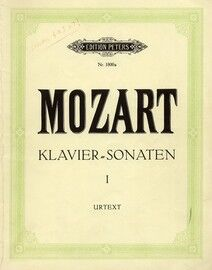 Mozart - Piano Sonatas - Book 1 - Augener's Edition No. 1800a - Urtext Edition