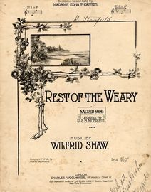 Rest of the Weary - Sacred Song in key of A flat major