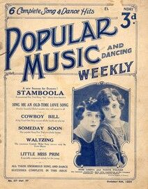 Popular Music and Dancing Weekly - October 4th 1924 - Featuring Miss Lorna and Toots Pounds - No. 37, Vol. III