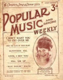 Popular Music and Dancing Weekly - September 20th, 1924 - No. 35, Vol. III - Featuring Miss Ida Barr