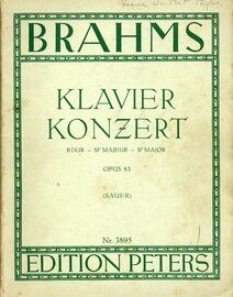 Brahms - Klavier Konzert in B flat Major (Scored for Two Pianos) - Op. 83 - Edition Peters No. 3895