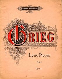 Lyric pieces - Book 1 - Op. 12 - Edition Peters No. 1269a