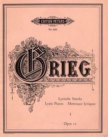 Lyric Pieces (Lyrische Stucke) - Op. 12 - Book 1 - Edition Peters No. 1269
