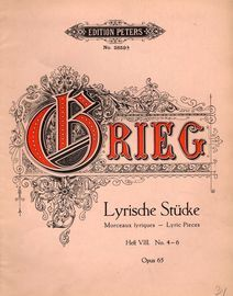 Lyrische Stucke - Lyric Pieces - Heft VIII No.'s 4-6 - Edition Peters No. 2859b - Op. 65
