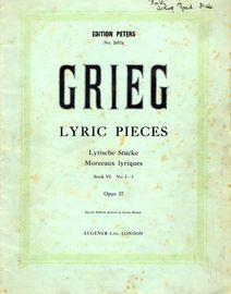 Lyrische Stucke (Lyric pieces) - Op. 57 - Heft 6 - No. 1 - 3 - Edition Peters No. 2657a