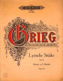 Lyrische Stuecke (Lyric Pieces) - Op. 68 - Heft 9 - Edition Peters No. 2924