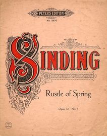 Rustle of Spring - Op. 32 - No. 3 - Peters Edition - No. 2870