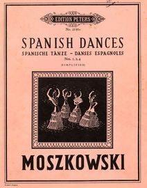Spanish dances - Nos. 1, 2 & 4 - Simplified - Edition Peters No. 2130a