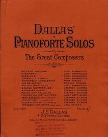Red Poppies Morceau de Salon - Dallas\' Pianoforte Solos