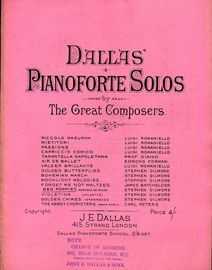 Red Poppies Morceau de Salon - Dallas' Pianoforte Solos