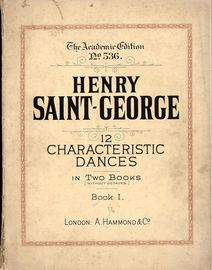 12 Characteristic Dances In Two Books (without Octaves) - Book 1 - The Academic Edition No. 536