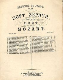 Soft Zephyr (Sull'aria) - Vocal Duet with Pianoforte Accompaniment - Flowers of italy Series No. 39