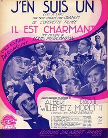 J'en Suis un (I'm a Sap) - Fox-trot Chante - For Piano and Voice with Ukulele chord symbols - Creation Dranem - French Edition