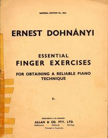 Essential Finger Exercises for Obtaining a Reliable Piano Technique