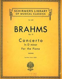 Concerto in D minor - The Orchestral accompaniments arranged for a second Piano - Op. 15 - Schirmer's Library of Musical Classics Vol. 1429