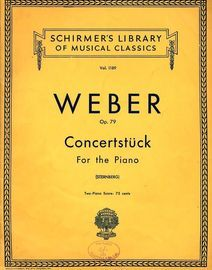 Concertstuck for the Piano - Op. 79 - Schirmers Library of Musical Classics Vol. 1189 - Orchestra accompaniment arranged for a Second Piano