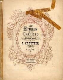 Kreutzer - 40 Etudes or Caprices for Solo Violin - J. Andre Edition