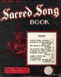 Sacred Song Book - Gem Sereies No. 81