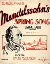 Spring Song - With Violin and Cello ad lib.- Banks Sixpenny Edition No. 73