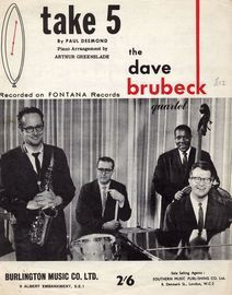 Take 5 - Recorded on Fontana Records - Featuring The Dave Brubeck Quartet