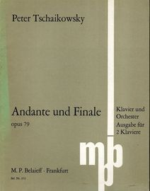 Andante und Finale - Op. 79 - Klavier und Orchestra - Arranged for 2 Piano - Belaieff edition no. 373