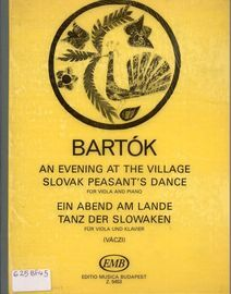 Bartok - An Evening at the Village and Slovak Peasant's Dance - For Viola and Piano