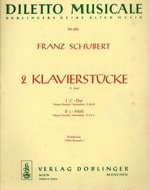 2 Klavierstucke - Diletto Musicale Series No. 805 - For Piano Solo