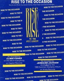 Rise to the Occassion - Recorded by Climie Fisher