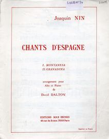 Chants D'espagne - 2 Songs for Alto and Piano - Montanesa / Granadina