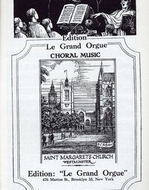 A Christmas Cradle Song - Christmas Anthem Soprano or Tenor Solo - Edition le Grand Orgue No. 212