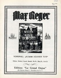 ''Komm susser Tod!'' Vorspiel - Choral for Organ - Edition le Grand Orgue