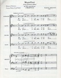 Magnificat (sing praise to Him) - For Four-part Chorus of Mixed Voices