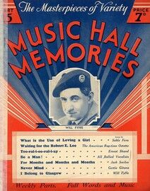 The Masterpeices of Variety - Music Hall Memories - Featuring Will Fyffe -  Part 15