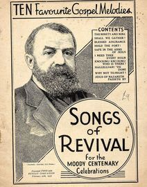 Songs of Revival for the Moody Centenary - Ten Favourite Gospel Melodies - Presented Free with Sunday Companion Febuary 27th, 1937