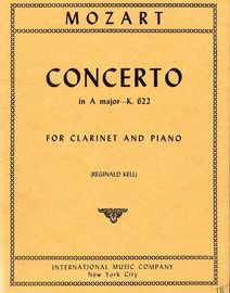 Concerto in A major - K. 622 - For Clarinet and Piano - Authentic Edition -  International Music Company edition No. 1878a