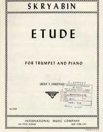 Skryabin - Etude - For Trumpet (B flat) and Piano - International Edition No. 2563