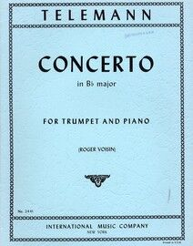 Telemann - Concerto in B flat Major - For B flat Trumpet and Piano - International Music Co. Edition No. 2441