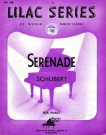 Serenade - For Piano - Lilac Series of World Famous Classics -  No. 39