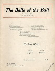 The Belle of the Ball - From the operatic cycle ''The Belle of the Ball'' - No.1 in C for Low Voice with Piano accompaniment