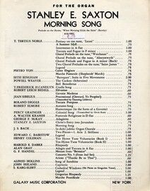 Morning Song - Prelude on the Hymn,