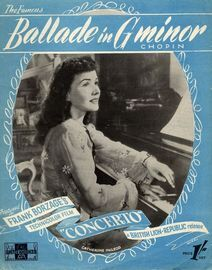 Ballade in G minor - Featured in Frank Borzage's British Lion technicolor film