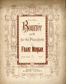 Bourree in G - For Pianoforte