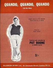 Quando, Quando, Quando (Tell me When)  - Featuring Pat Boone