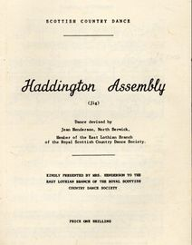 Haddington Assembly (jig) - Scottish Country Dance with Instructions for the Dance