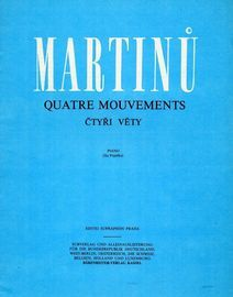 Quatre Mouvements - For Piano