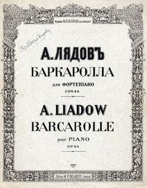 Barcarolle for Piano - Op. 44