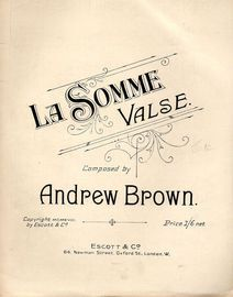 La Somme - Valse for Piano