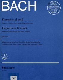 Bach - Concerto in D minor - For two violins, Strings and Basso Continuo - BMV1043 - Urtext Edition