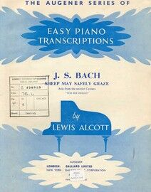 J. S. Bach - Sheep may Safely Graze - The Augener Series of Easy Piano Transcriptions