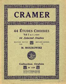 44 Etudes Choisies - Vol I, No's 1-24 - Collection Orphee No. 119 - Revised Edition